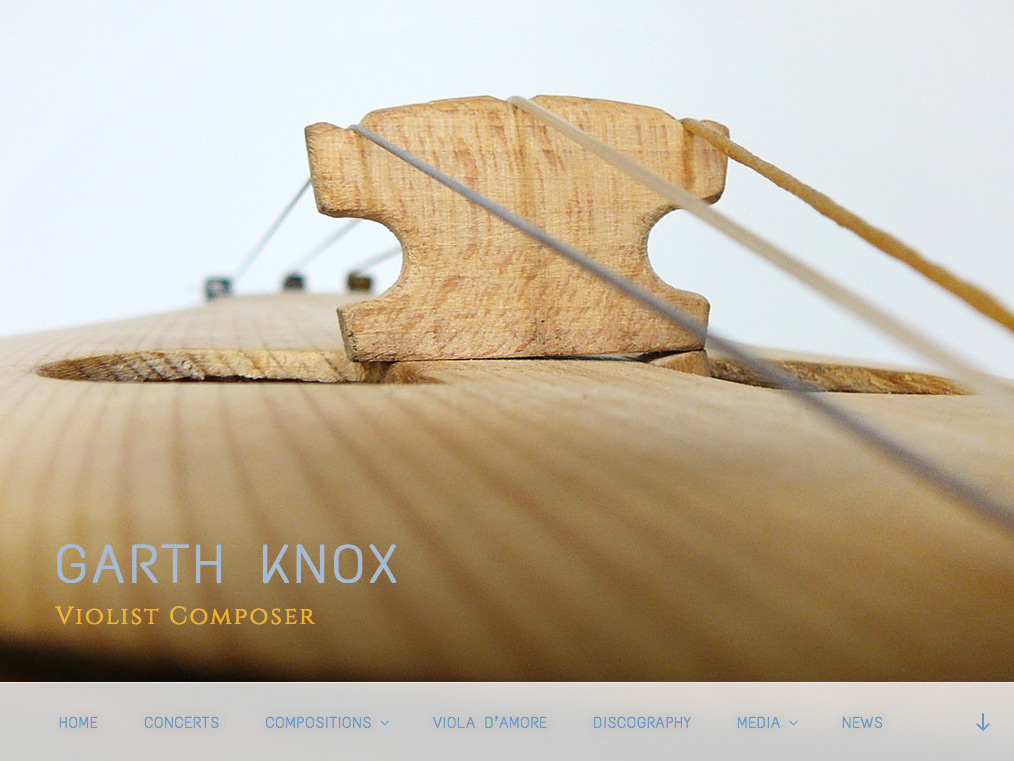 Site de Garth Knox