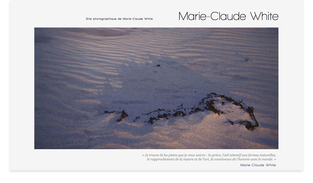 Site photographique de Marie-Claude White